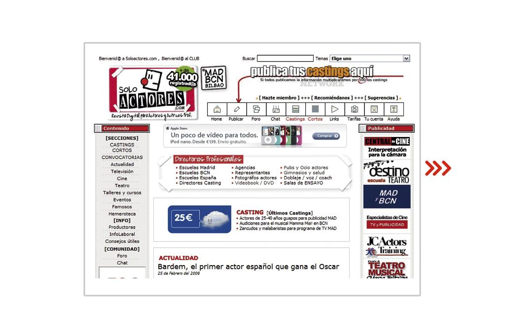 SoloActores.com en 2004